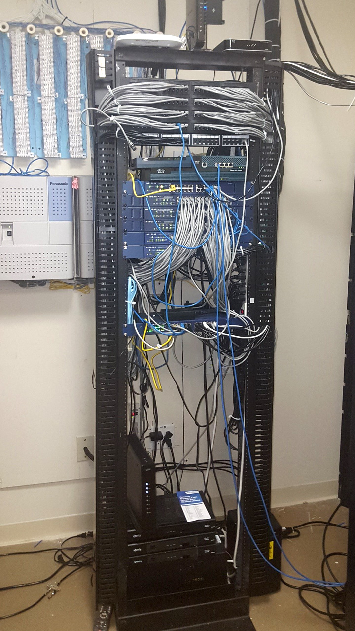 Structured Cabling - Before